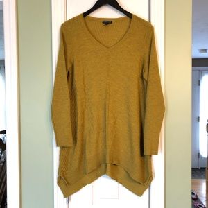 Eileen Fisher Wool Marigold Ribbed Tunic Sweater